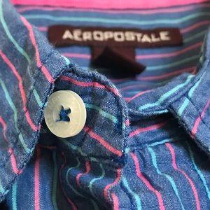 Men's Aeropostale Button Front Shirt Size XL